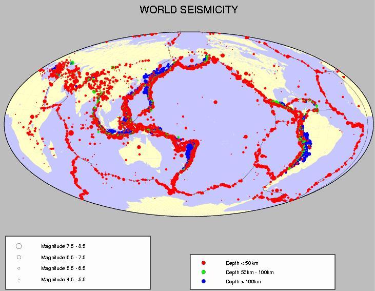 Tremblements de terre aux quatre coins du monde !