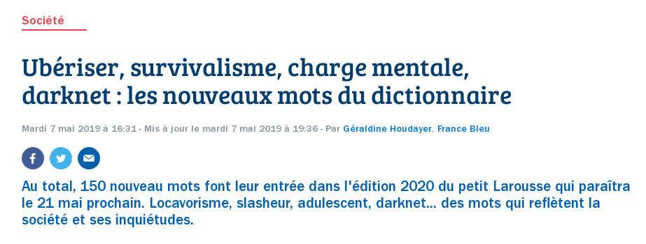 Article sur france-bleu.fr